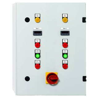 NivoTec 2000 Level Monitoring & Visualisation System integrated into a control cabinet.
